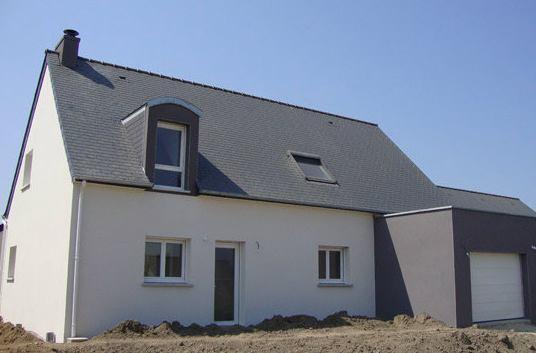 Maison toit zinc arrondi
