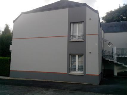 Ravalement rennes travaux de peinture for Peinture facade gris ardoise