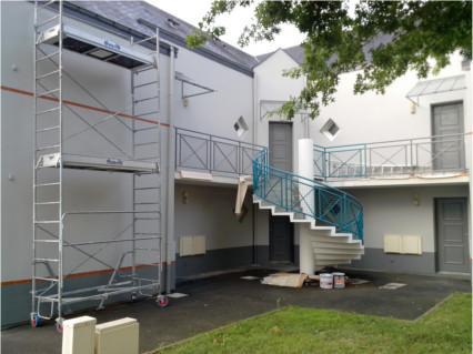 peinture façade et escalier